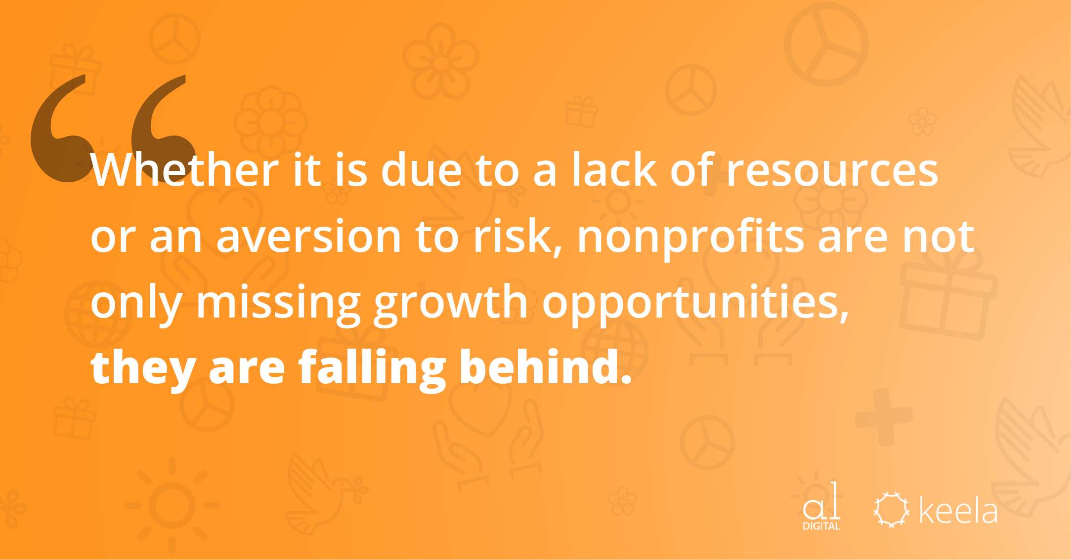 Whether it is due to a lack of resources or an aversion to risk, nonprofits are not only missing growth opportunities, they are falling behind.
