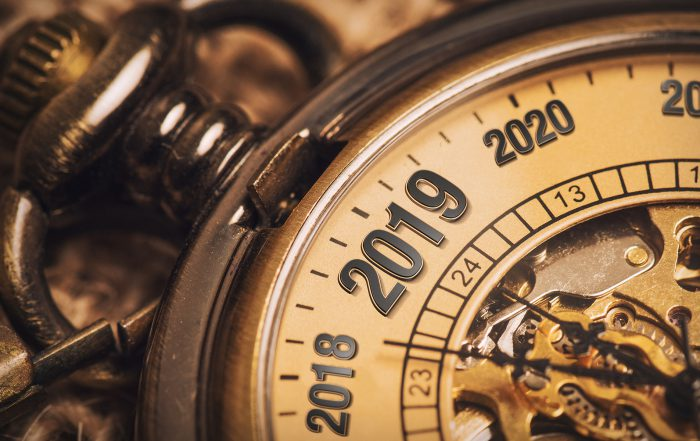 Antique watch shows year rolling into 2019